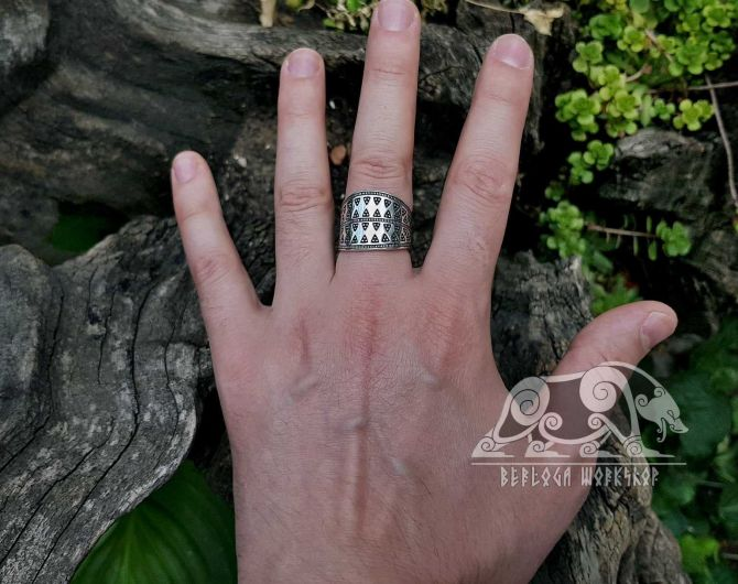 Gotland Replica Ring 10th cent. Viking Ring Traditional Viking Design Sterling Silver Ring Scandinavian Ring Norse Ring Viking Jewelry (2)