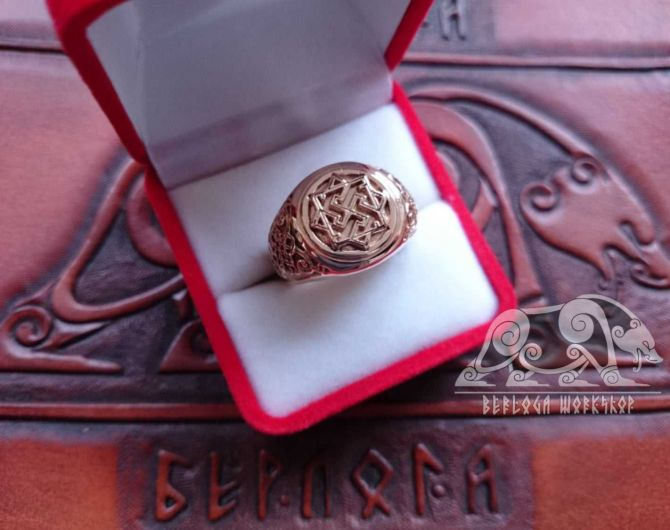 Gold Valkyrie Viking Ring 14K Gold Ring Scandinavian Norse Viking Jewelry