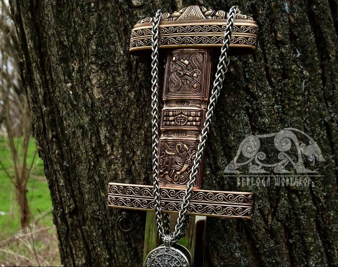 Viking Chain For Pendants Viking Necklace Sterling Silver Chain Scandinavian Norse Viking Jewelry