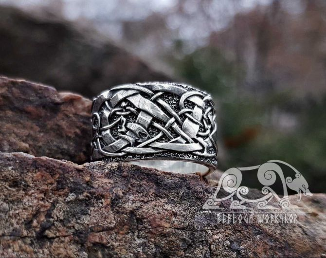 Urnes Viking Ring (Part 2) Urnes Style Ring Sterling Silver Scandinavian Norse Ring Urnes Stave Church Viking Jewelry