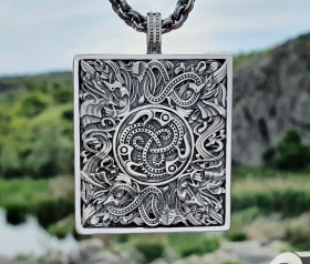 Viking Ravens Vendel Pendant Great Detailed Sterling Silver Norse Viking Necklace Viking Jewelry (based on portal stave church Borgund)