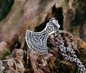 Viking Axe Pendant Replica Original size Viking Mammen Axe Sterling Silver Viking Axe Necklace Scandinavian Norse Viking Jewelry
