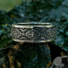 Health Ring Ancient Symbols Sterling Silver Viking Ring Pagan Norse Slavic Fern Flower Ring Viking Jewelry