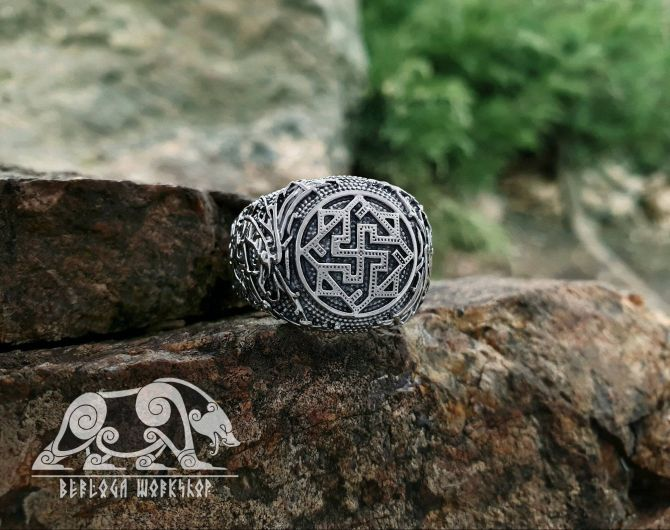 Valkyrie Ring Viking Ring Ringerike Style Sterling Silver Ring Viking Deer Ring Scandinavian Norse Ring Viking Jewelry