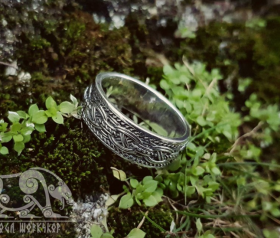 Viking Ring with Traditional Viking Ornament Sterling Silver Ring Scandinavian Norse Viking Jewelry (4)