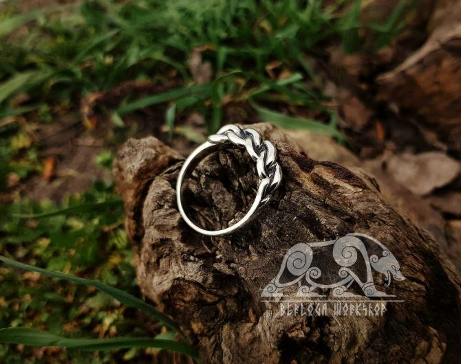 Braided Viking Ring Replica Viking Sterling Silver Ring Massive Ring Scandinavian Ring Norse Ring Viking Jewelry