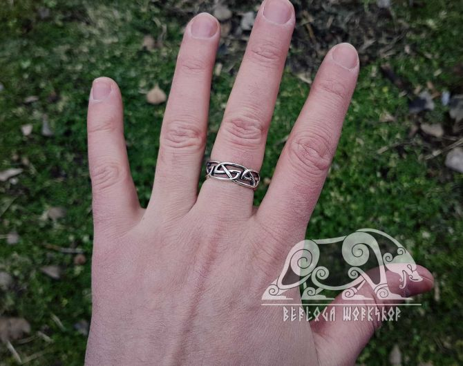 Viking Ring Replica Viking Ring Traditional Viking Design Sterling Silver Ring Scandinavian Ring Norse Ring Viking Jewelry
