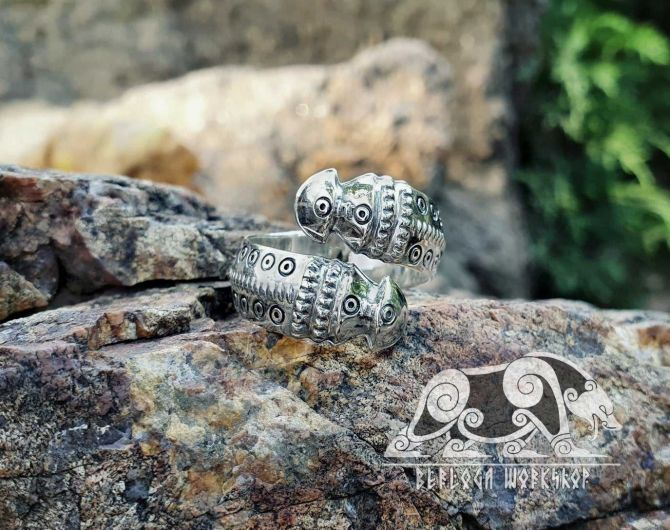 Viking Replica Ring from Sverige Skane Viking Ring Viking Design Sterling Silver Ring Scandinavian Norse Ring Viking Jewelry