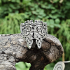 Odin Ring with Ravens Hugin and Munin with Valknut Sterling Silver Viking Ring Valknut Ring Scandinavian Urnes Ring Norse Viking Jewelry