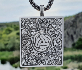 Triple Horn of Odin Viking Pendant Odin