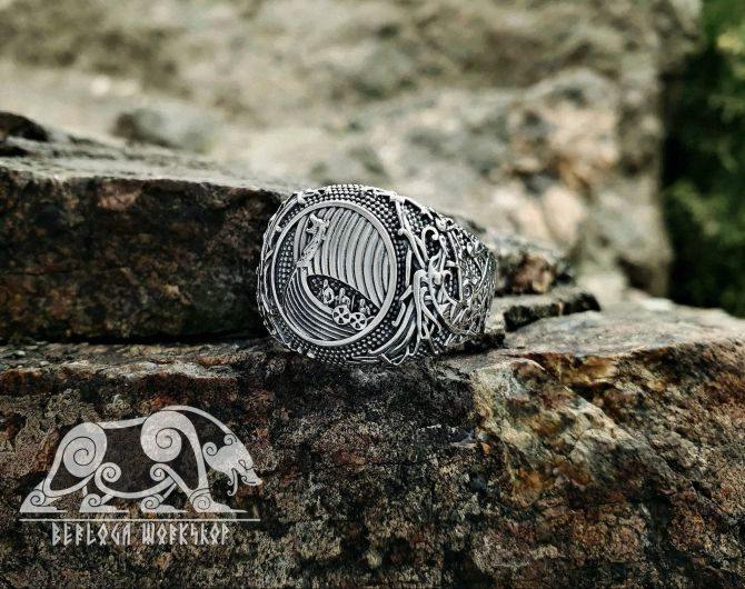 Viking Ship Ring Floki