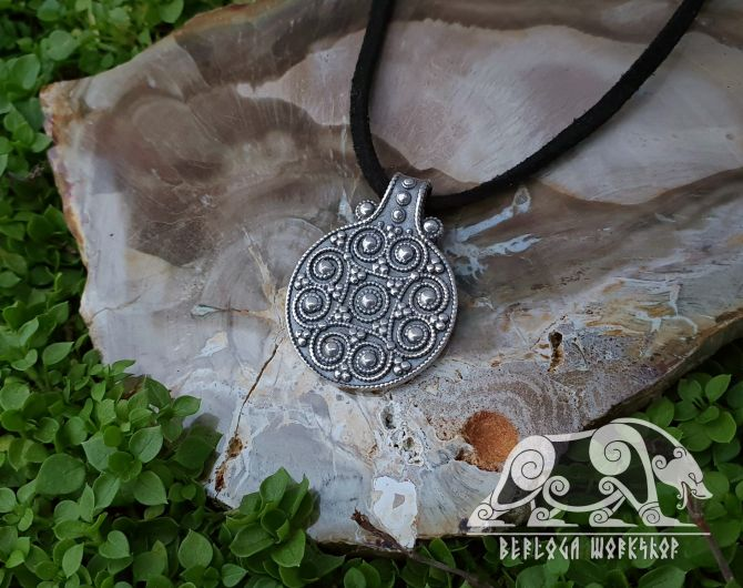 Viking Pendant Replica from Gnezdovo Sterling Silver Viking Necklace Scandinavian Norse Viking Jewelry