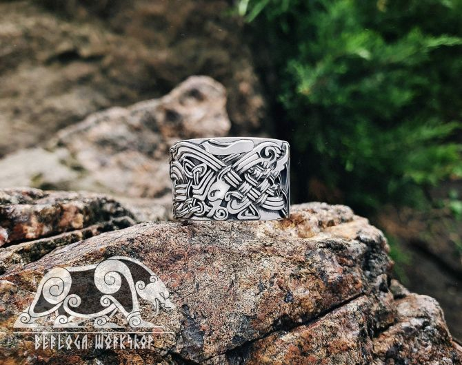 Celtic Dogs Ring Sterling Silver Celtic Ring Great Detailed Ring Celtic Jewelry