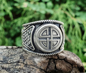 Viking Shield Knot Ring  Viking Ring Shield Ring Sterling Silver Ring Scandinavian Norse Viking Jewelry (from Eketorp, Sweden)  (2)