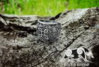 Viking Shield Knot Ring Mammen Style Sterling Silver Viking Ring Scandinavian Norse Viking Jewelry (based on mammen axe)
