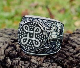 Viking Shield Knot Ring Odin
