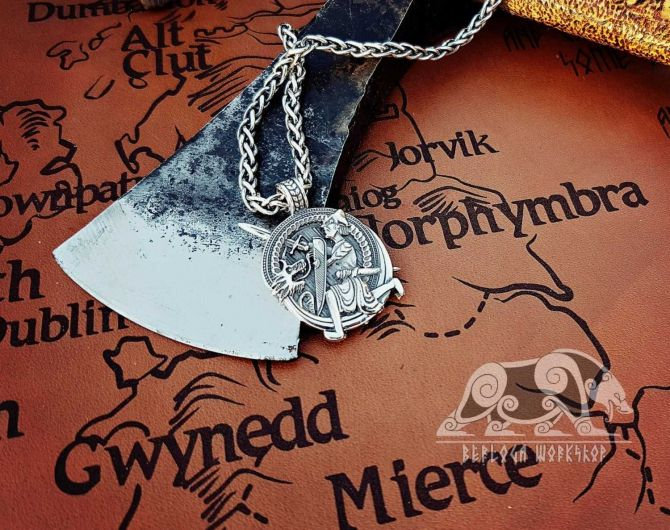 Siegfried and Fafnir Viking Pendant Sigurd and Fafnir Sterling Silver Scandinavian Norse Viking Jewelry