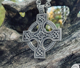 Celtic Cross Pendant Sterling Silver Celtic Necklace Norse Celtic Jewelry