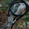 Wolf Viking Necklace Oseberg Braided Leather Wolves Cord Sterling Silver Necklace Scandinavian Norse Viking Jewelry