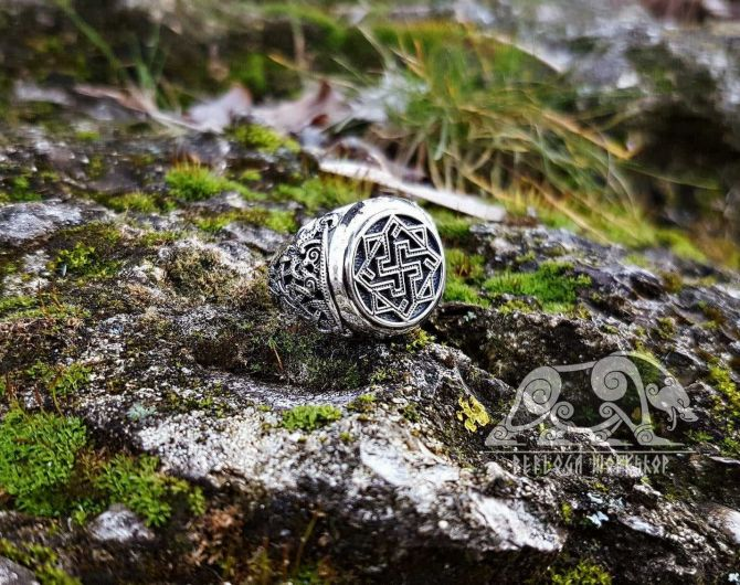 Valkyrie Ring Viking Ring Mammen Style Sterling Silver Ring Scandinavian Norse Viking Jewelry