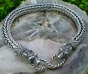 Wolf Viking Bracelet Oseberg Strong and Flexible Bracelet Sterling Silver Wolves Bracelet Scandinavian Norse Viking Jewelry