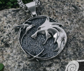 Wolf School Medallion Wolf Pendant Cosplay Pendant Sterling Silver Witcher Wolf School Necklace Witcher Medallion Witcher Pendant 3