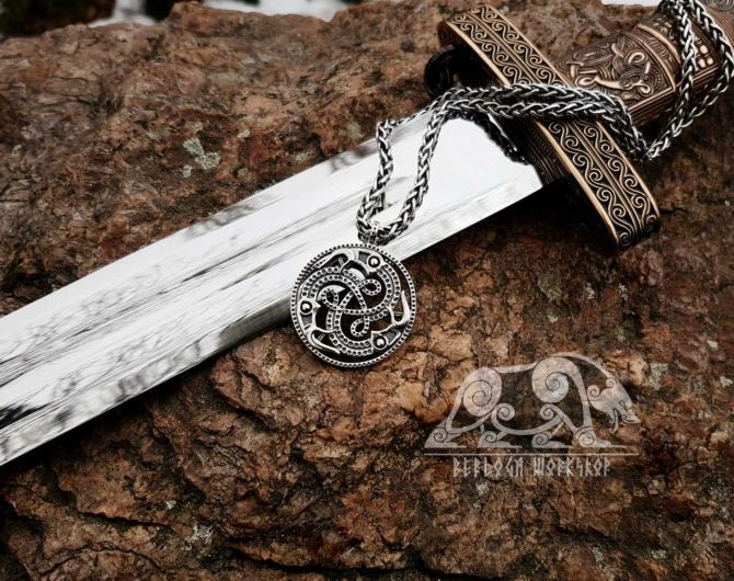 Vendel Ravens Pendant Viking Pendant Mammen Style Sterling SilverRaven Viking Necklace Scandinavian Norse Viking Jewelry