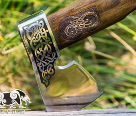 """Hand forged Nordic axe """"Buoyant Ormr"""""""