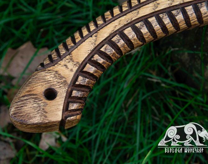"""Camping Hand Forged hatchet """"Hera"""" with leather cover and wooden box"""