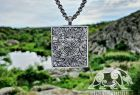 Raven Banner Pendant Viking Raven Pendant Sterling Silver Norse Viking Necklace Viking Jewelry (based on portal of stave church Borgund)