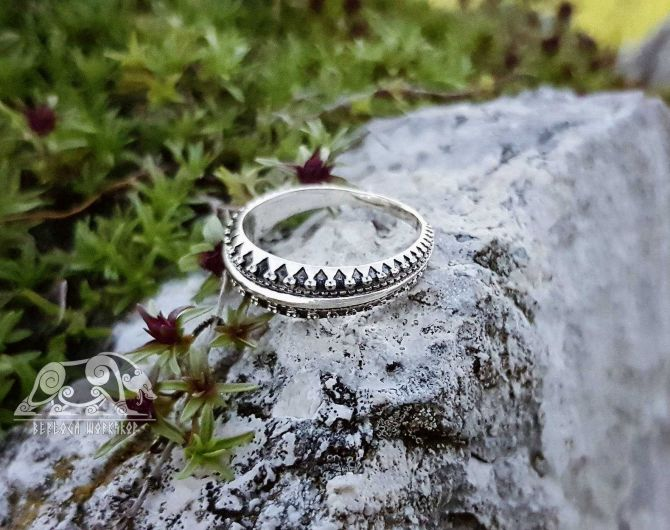 Viking Ring with Traditional Viking Ornament Sterling Silver Exquisite Ring Scandinavian Сlassic Ornament Ring Norse Ring Viking Jewelry