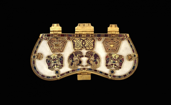 Purse lid from the Sutton Hoo ship burial