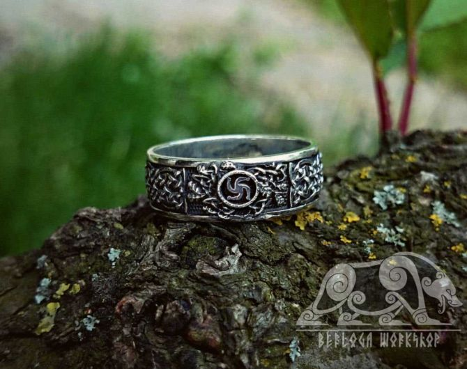 Slavic Ring Slavic Symbol Sterling Silver Ring Pagan Norse Viking Ring Viking Jewelry symbol of the family