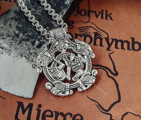 Viking Pendant Replica from England, Norfolk Borre style Pendant Sterling Silver Viking Necklace Scandinavian Norse Viking Jewelry