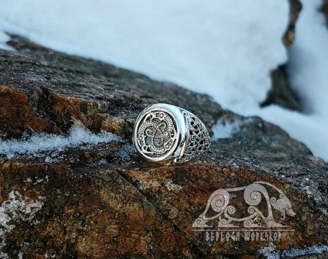 Vendel Ravens Ring Viking Ring Mammen Style Sterling Silver Viking Raven Ring Scandinavian Norse Viking Jewelry