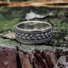 Viking Ring with Traditional Viking Ornament Sterling Silver Ring Scandinavian Norse Viking Jewelry (1)