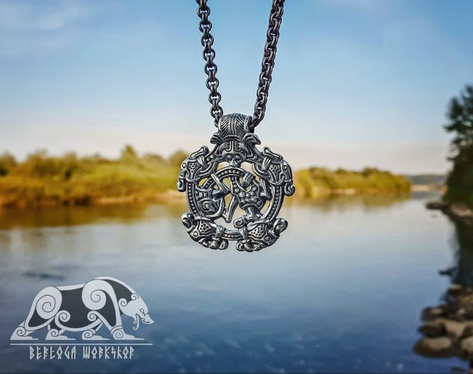 Set of Viking Pendants Replica from Varby hoard Sweden Sterling Silver Viking Necklace Scandinavian Viking Jewelry Gripping Beast