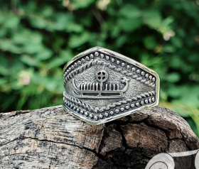 Drakkar Ring Ancient Ship Symbol Viking Ship Ring Sterling Silver Viking Ring Scandinavian Norse Viking Jewelry