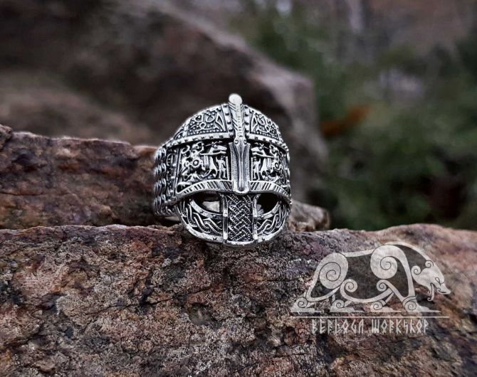 Helmet Ring Valsgarde 8 (Gamla Uppsala, Sweden) Vendel Ring Sterling Silver Viking Ring Scandinavian Norse Viking Jewelry