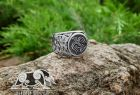 Raven Banner Ring Viking Ring Great Detailed Ring (design based on portal of stave church Borgund) Sterling Silver Norse Ring Viking Jewelry