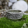 Viking Ring with Traditional Viking Ornament Sterling Silver Ring Scandinavian Norse Viking Jewelry