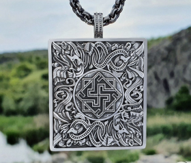 Valkyrie Pendant Viking Pendant Great Detailed Sterling Silver Norse Viking Necklace Viking Jewelry (based on portal of stave church Borgund)