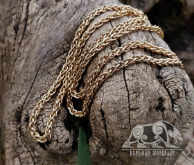 Gold Viking Chain Viking Necklace 14K Gold Chain Scandinavian Norse Viking Jewelry