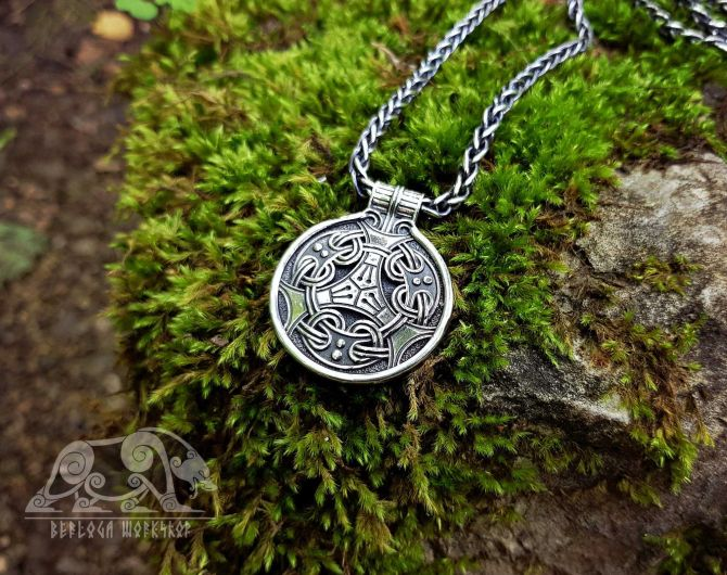 Viking Pendant Uppland Replica Viking Knot Sterling Silver Viking Necklace Scandinavian Norse Viking Jewelry