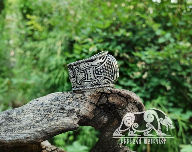 Vegvisir Ring Viking Ring Sterling Silver Runic Compass Ring Norse Ring Scandinavian Norse Viking Jewelry (from Eketorp, Sweden)