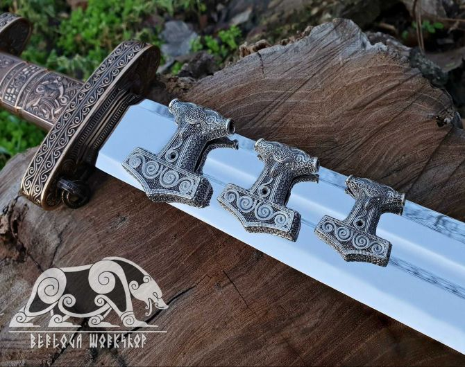 Set Raven Heads Best Chain Viking Necklace Raven Thor