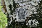 Vegvisir Ring Loki Mask Ring Runic Compass Viking Ring Mammen Style Ring Sterling Silver Norse Ring Viking Jewelry (based on Cammin Casket)