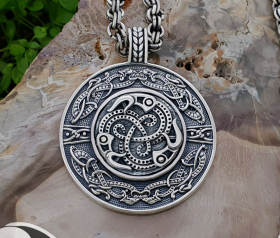 Viking Ravens Pendant Vendel Pendant Viking Urnes Sterling Silver Norse Viking Necklace Viking Jewelry (Tandgarve, Sweden)