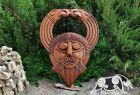 Odin with Ravens Replica (found North Norfolk) Wood Carving Viking Decor Oak Pendant Wall Hanging Norse Vikings Wall Woodwork Viking Carving
