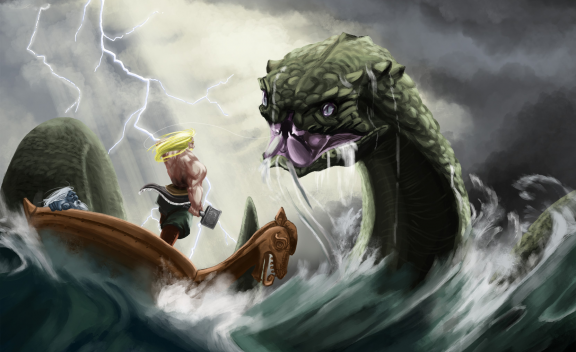 Thor fishing for Jormungand